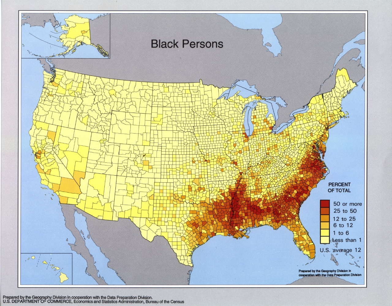 Race And Hispanic Origin Population Density Geography - Us population distribution map by state
