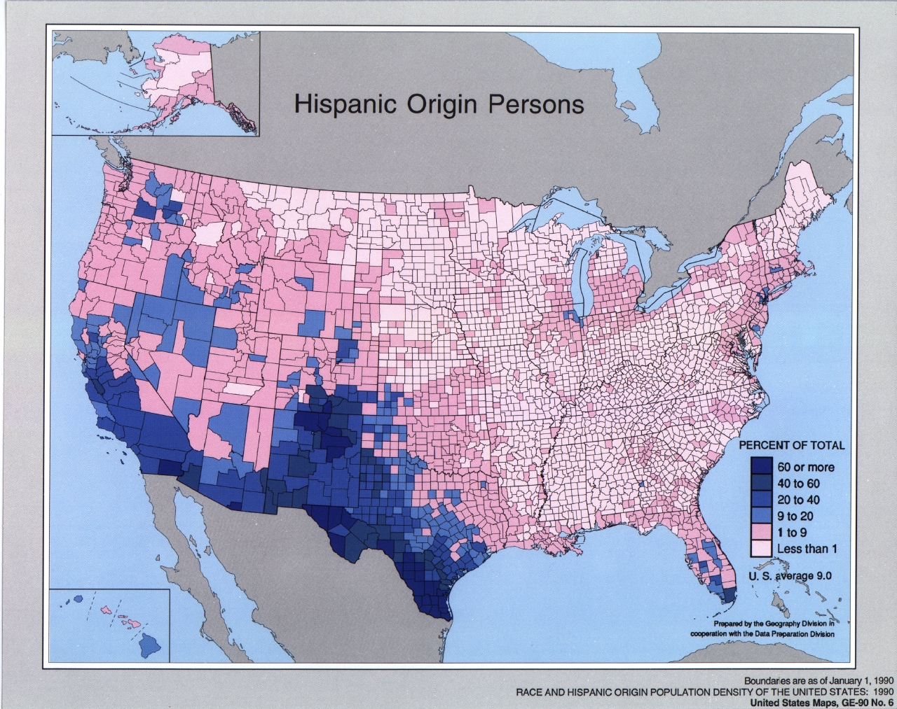 Race And Hispanic Origin Population Density Geography - Us census ancestry map