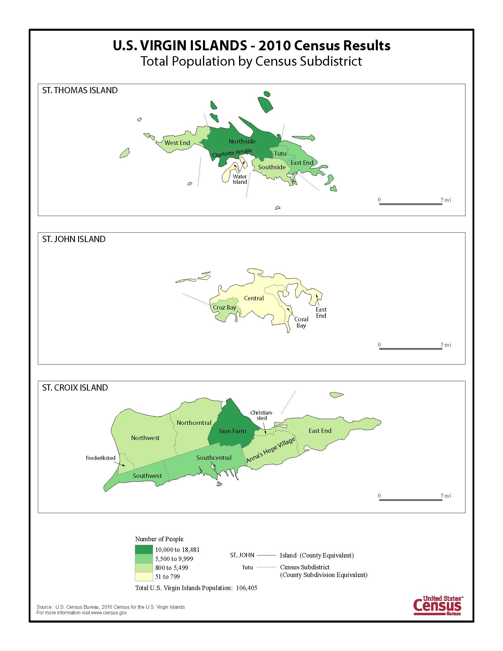 2010 Census Island Areas Visualizations