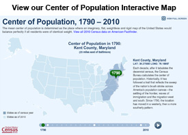 Interactive Center of Population Map Widget